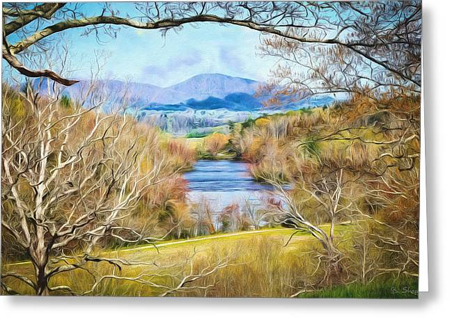 River Overlook Greeting Card