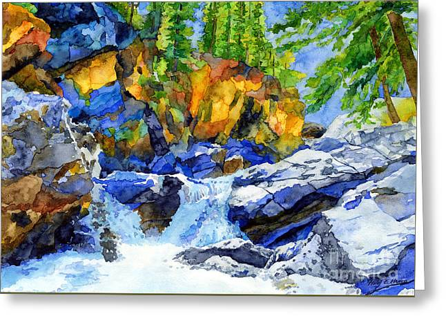 River Pool Greeting Card