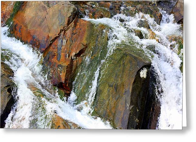 River Power Dashed Upon The Rocks Greeting Card