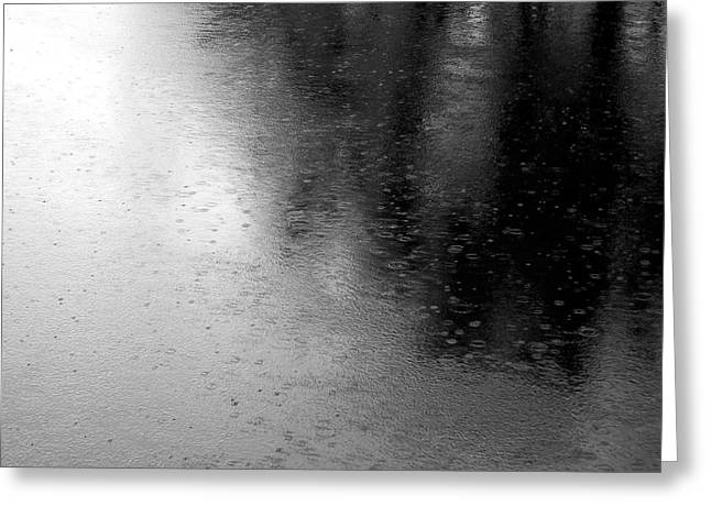 River Rain  Naperville Illinois Greeting Card