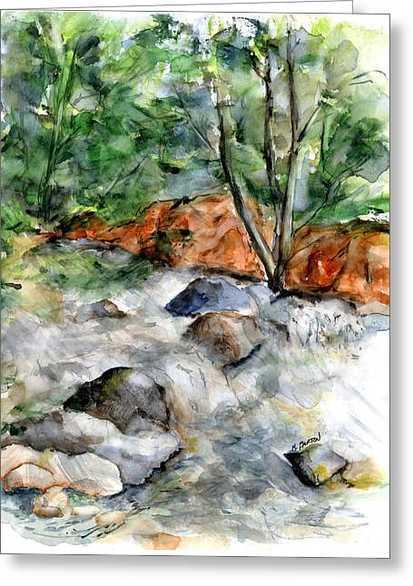 River Rapids Greeting Card by Marilyn Barton