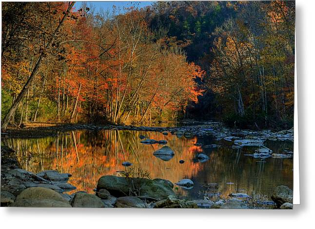 River Reflection Buffalo National River At Ponca Greeting Card