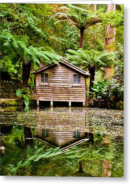River Reflections Greeting Card by Az Jackson