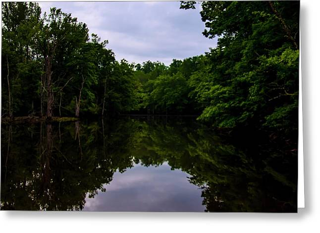 Greeting Card featuring the digital art River Reflections by Chris Flees