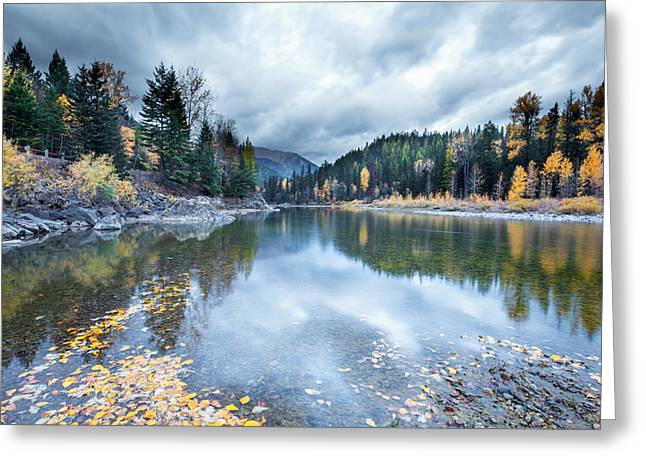 Greeting Card featuring the photograph River Reflections by Fran Riley