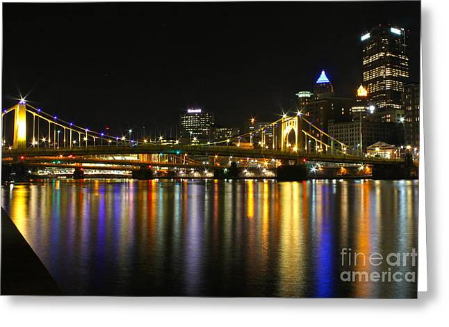 River Reflections Greeting Card by Jay Nodianos