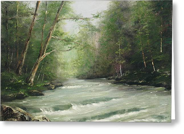 River Retreat Greeting Card