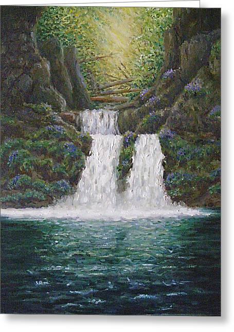 River Reverie Greeting Card by Deborah Dallinga