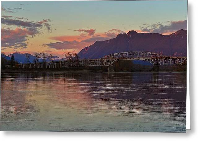 Fraser River, British Columbia Greeting Card by Heather Vopni