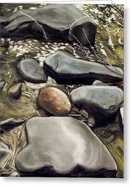 River Rock Formations Greeting Card by Brenda Williams