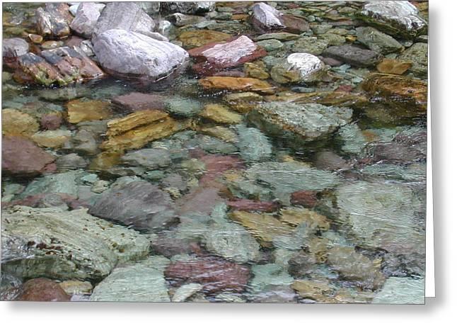 River Rocks Greeting Card by Lisa Patti Konkol