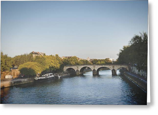 River Seine Greeting Card by Ivy Ho