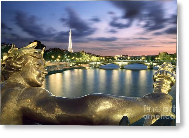 River Seine - Paris Greeting Card by Rod McLean