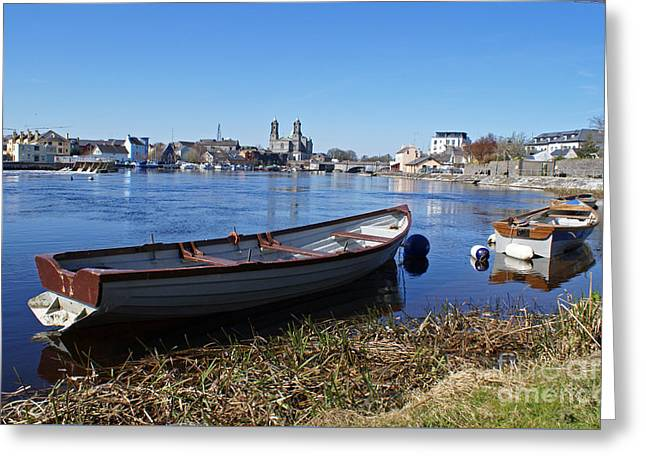 River Shannon At Athlone Greeting Card