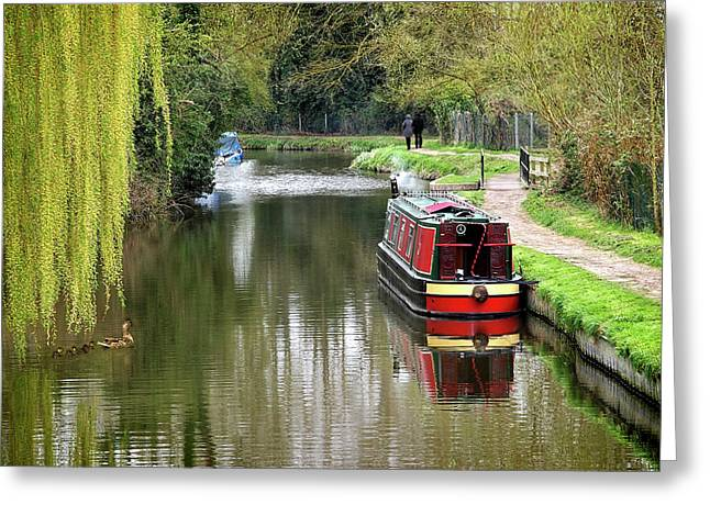 River Stort In April Greeting Card by Gill Billington
