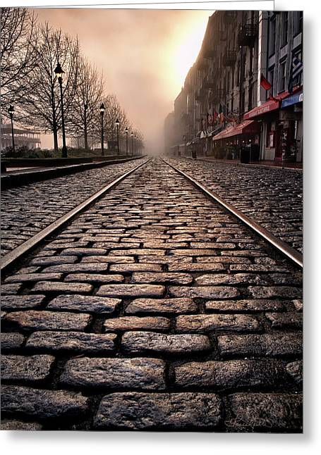 River Street Railway Greeting Card