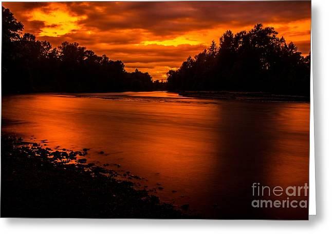 River Sunset 2 Greeting Card