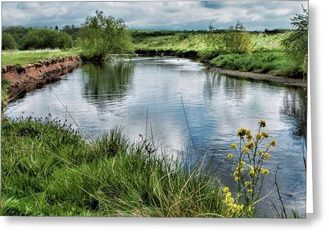 River Tame, Rspb Middleton, North Greeting Card by John Edwards