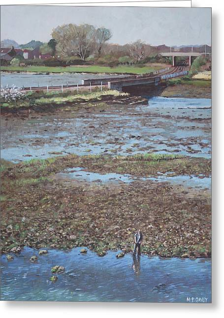 River Test At Totton Southampton Greeting Card by Martin Davey