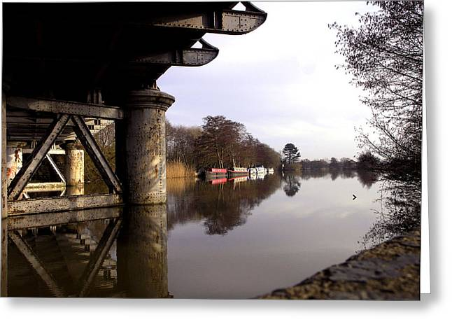 Barges Greeting Cards Greeting Cards - River Thames at Sandford. Greeting Card by Mike Lester