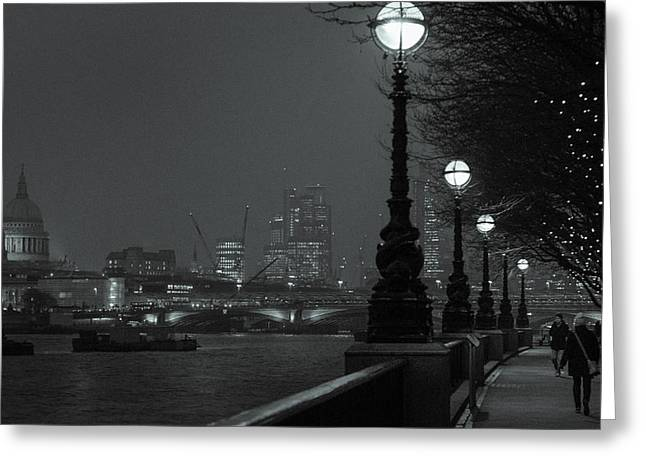 River Thames Embankment, London 2 Greeting Card