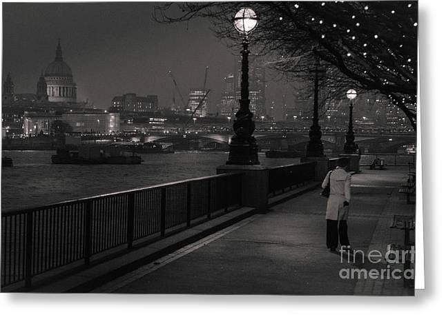 River Thames Embankment, London Greeting Card