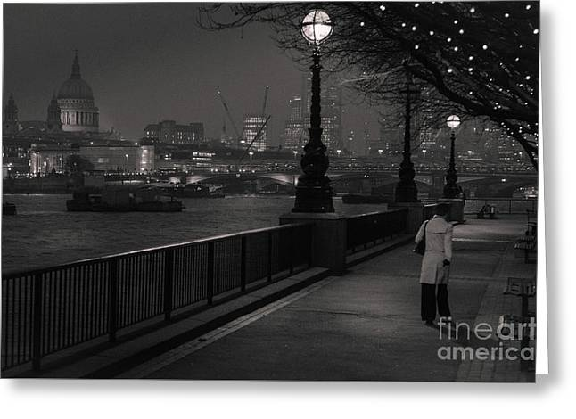 River Thames Embankment, London Greeting Card