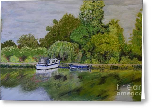 River Thames Hampton Greeting Card