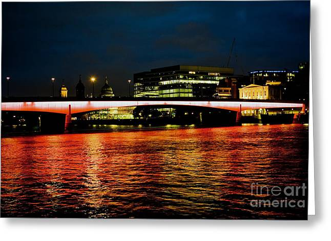 River Thames, In London Greeting Card by Cyril Jayant