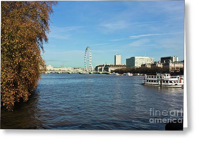 River Thames London Greeting Card by Terri Waters