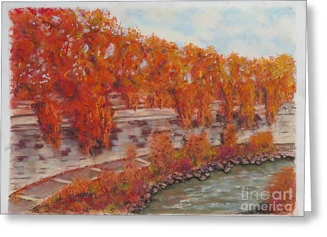River Tiber In Fall Greeting Card