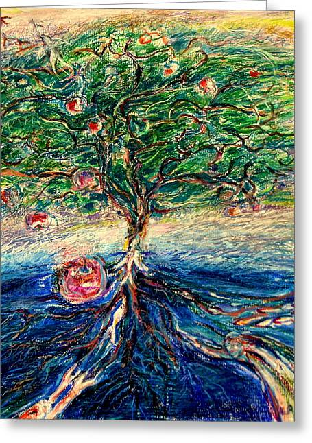 River Tree Greeting Card by Laurie Parker