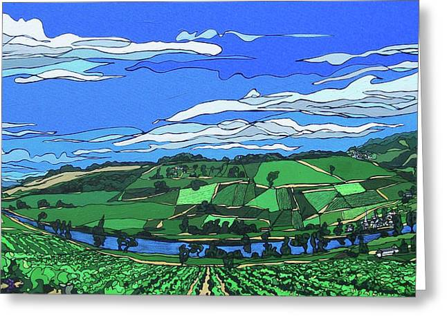 River Valley Vineyard Greeting Card