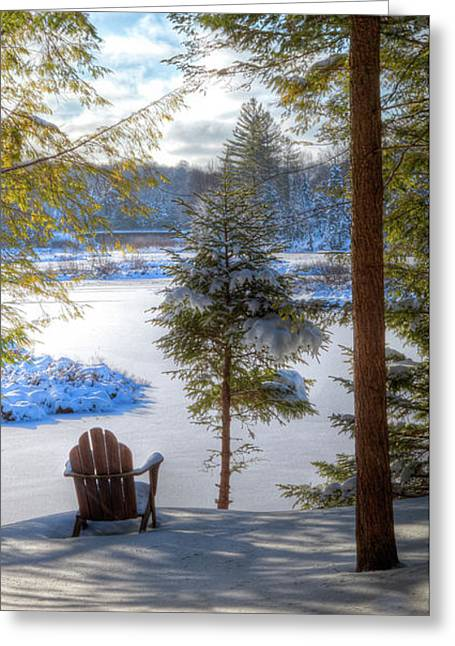 River View Greeting Card by David Patterson