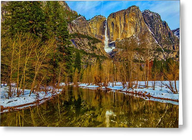 River View Yosemite Falls Greeting Card by Garry Gay