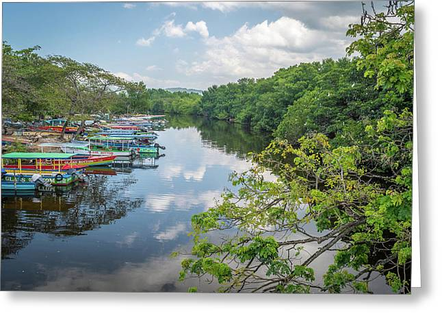 River Views In Negril, Jamaica Greeting Card