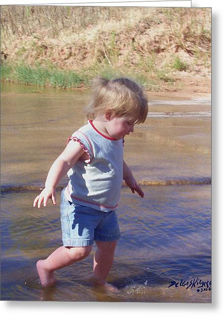 River Wading Greeting Card