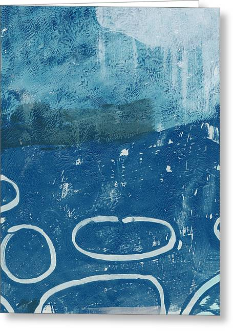 River Walk 3- Art By Linda Woods Greeting Card by Linda Woods