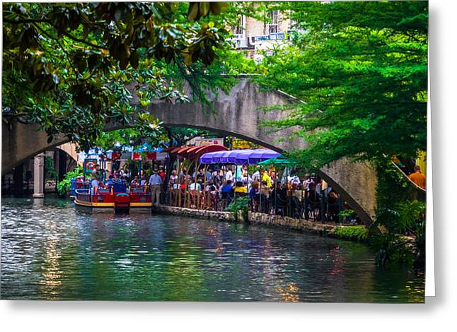 River Walk Dining Greeting Card
