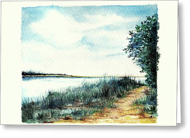 River Walk Greeting Card by Heidi Kriel
