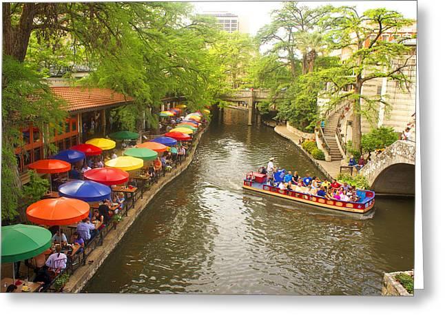 River Walk In San Antonio, Texas Greeting Card by Art Spectrum
