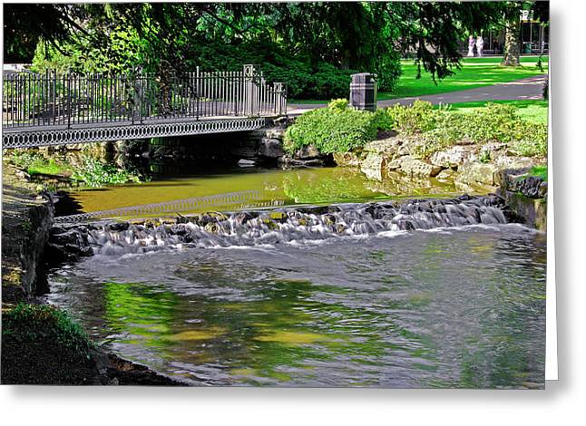River Wye Through Buxton Pavilion Gardens Greeting Card by Rod Johnson