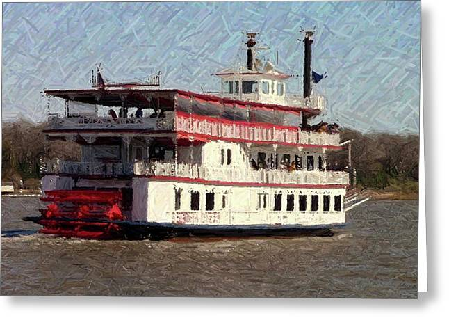 Steamboat Greeting Cards - Riverboat Queen - Digital Art Greeting Card by Al Powell Photography USA