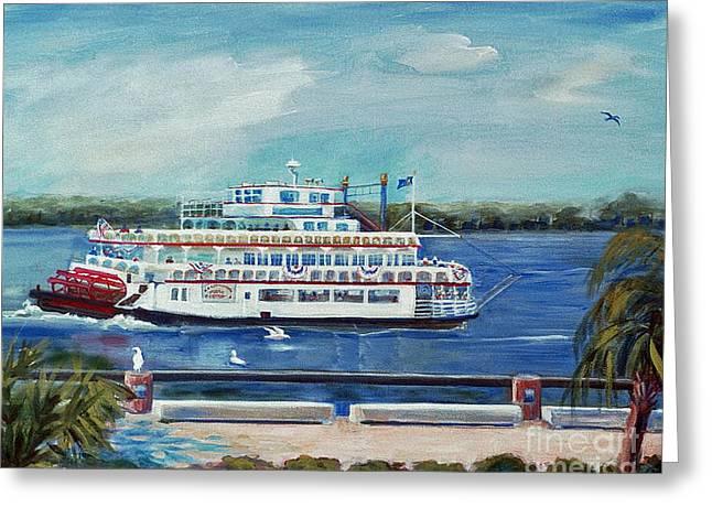 Riverboat Savannah Greeting Card