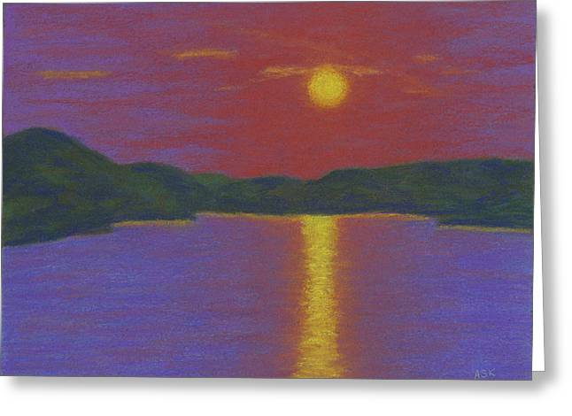 Riverboat Sunset Greeting Card