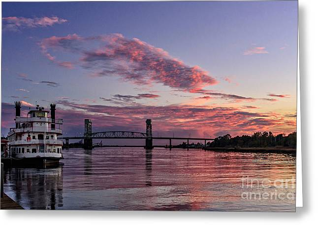Cape Fear Riverboat Greeting Card