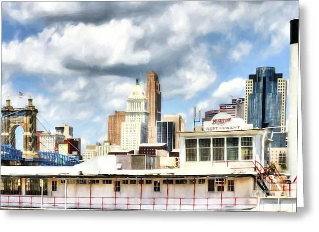 Riverboats Of Cincinnati # 2 Greeting Card by Mel Steinhauer