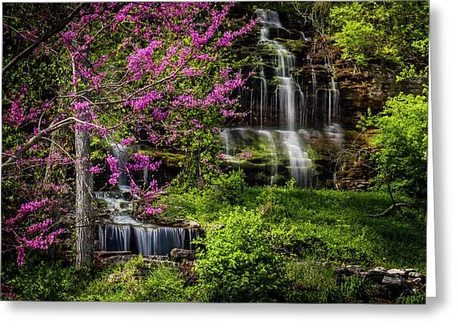 Rivercut Waterfall Greeting Card