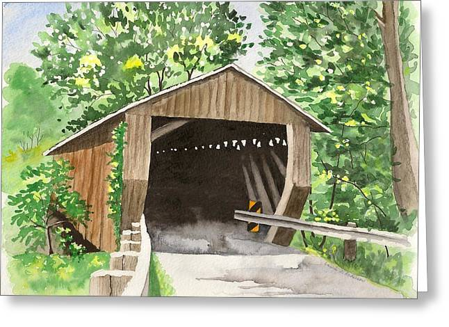 Riverdale Road Bridge Greeting Card