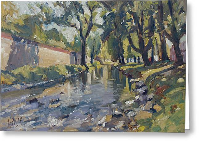 Riverjeker In The Maastricht City Park Greeting Card